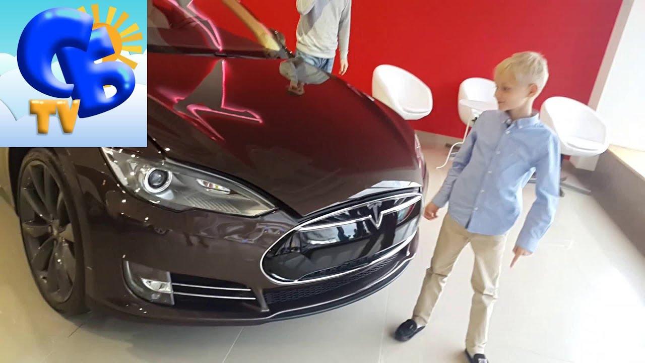 Салон электромобилей Тесла Ниссан Лиф спорткар Лотус electric cars Nissan Leaf Tesla Lotus