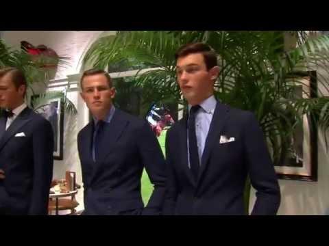 Designer Ralph Lauren men's fashion week in New York presented the 2016 spring collection