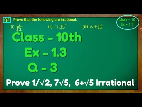 Class - 10th, Ex - 1.3, Q 3 (Real Numbers) NCERT CBSE