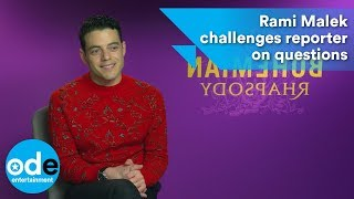 Rami Malek challenges reporter to ask new questions