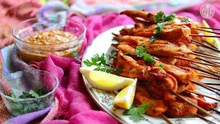 Bbq Chicken Satay   Video Recipe