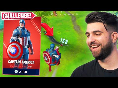 The CAPTAIN AMERICA Challenge In Fortnite Season 3!
