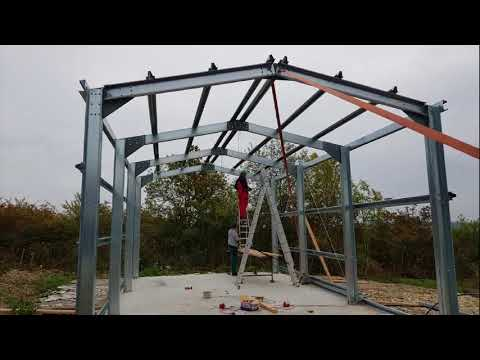 How to build a light steel frame garage shed DIY