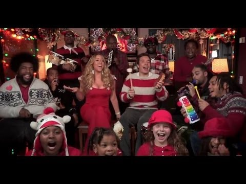 Mariah Carey and Jimmy Fallon All I Want For Christmas Is You Video!