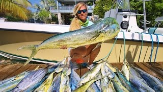 WE WON 1st Place Lady Angler Florida Keys Offshore Mahi Fishing Tournament