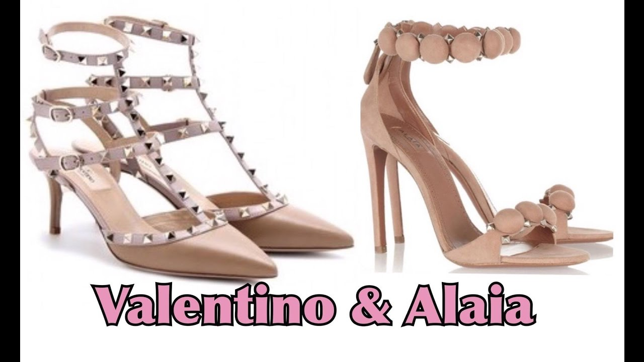 5ff08af6b3f3 Valentino Rock Studs   Azzedine Alaia Sandals Unboxing Review