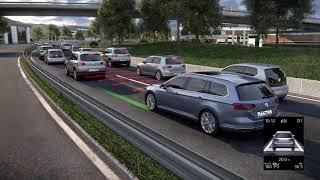 Технологии Volkswagen  Ассистент движения в пробке