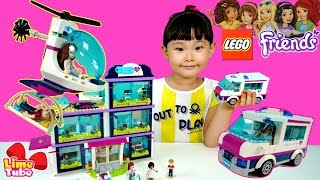 교통사고가 났어요 구급대원 출동! 41318 하트레이크 병원 레고프렌즈 구급차 구조헬기 교통안전교육 장난감 놀이 LimeTube & Toy 라임튜브