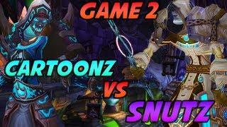 Cartoonz 3v3 vs Snutz Biotox Cdew - Game 2 (World of Warcraft PvP / Arena)
