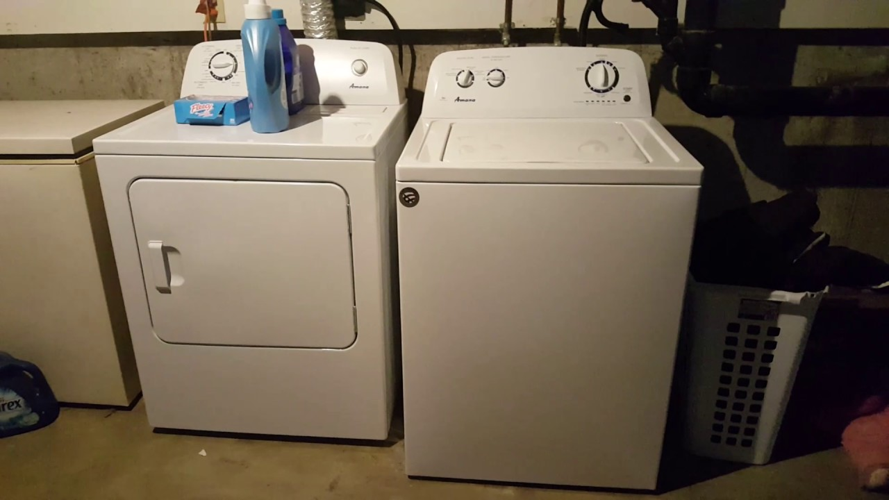 amana washer and dryer must watch  [ 1280 x 720 Pixel ]