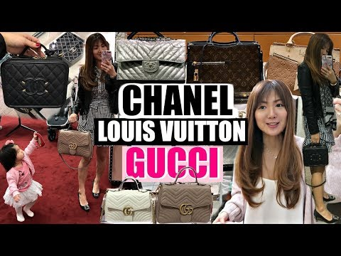 SHOP AND EAT WITH US | LV, CHANEL, GUCCI, VALENTINO| HMART+KOREAN FOOD | CHARIS