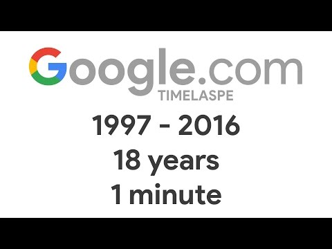 Google 1998-2016 TIME LAPSE: 18 years in 1 minute