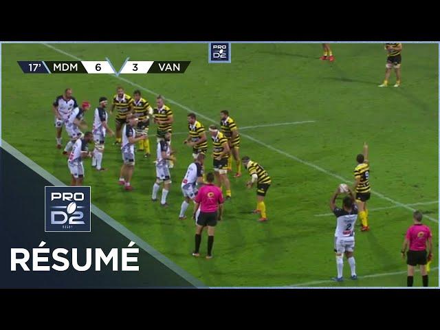 PRO D2 - Résumé Stade Montois-RC Vannes: 15-19 - J3 - Saison 2020/2021