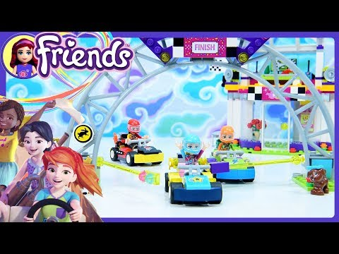 LEGO Friends The Big Race Day Speed Build Silly Play & Review