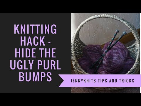 Knitting Hack - Hide ugly Purl bumps when changing colors and working rib stitches