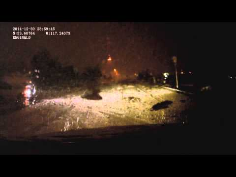12/30/14-12/31/14 Snow in the Temecula Valley, CA (driving in it)