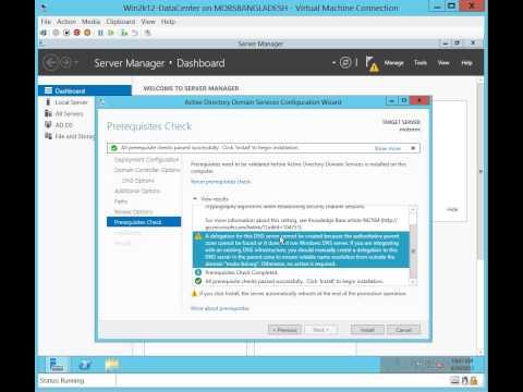 Microsoft Windows Server 2012 Domain Controller Installation (Visual Only)