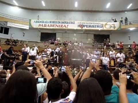 Heloisa Rosa no Templo Central da Assembleia de Deus em Imperatriz