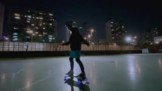 전동 스케이트보드 (섬머보드) 농구장 훈련 팔로우 캠 …