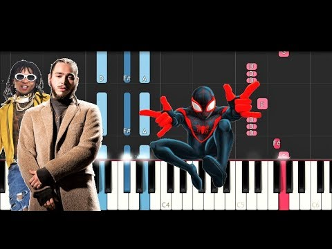 Post Malone, Swae Lee - Sunflower (Spiderman Into the Spider Verse) (Piano Tutorial)