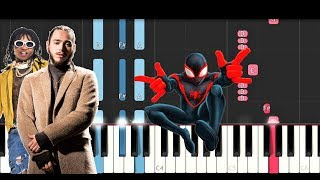 Post Malone Swae Lee Sunflower Spiderman Into the Spider Verse Piano Tutorial.mp3
