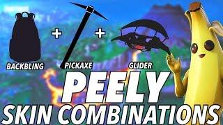 """""""Peely"""" SKIN BEST BACKBLING + SKIN COMBOS! (Season 8) (Fortnite) (2019)"""