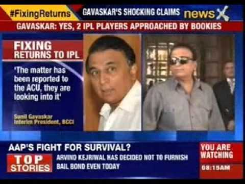 Sunil Gavaskar reveals two players approached by bookies