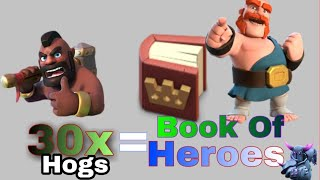 Cook Hog Rider and Get free Book of Heroes😂 Let's go Riders: Clash of Clans 1 Gems Special🔥