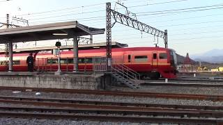 【HD】 東武100系日光詣スペーシア 到着&JR 253系日光8号 発車(下今市)