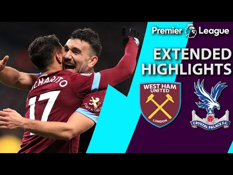 West Ham v. Crystal Palace I PREMIER LEAGUE EXTENDED HIGHLIGHTS I 12/8/18 I NBC Sports