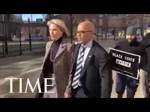 Betsy DeVos Greeted By Protesters During Her First Visit As Education Secretary | TIME