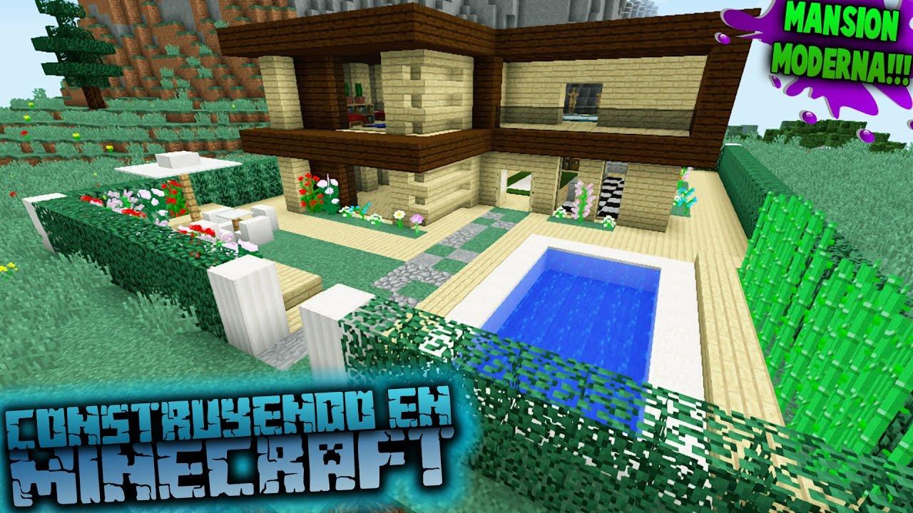 Como hacer una casa moderna para survival en minecraft for Casa moderna 10 x 10 minecraft