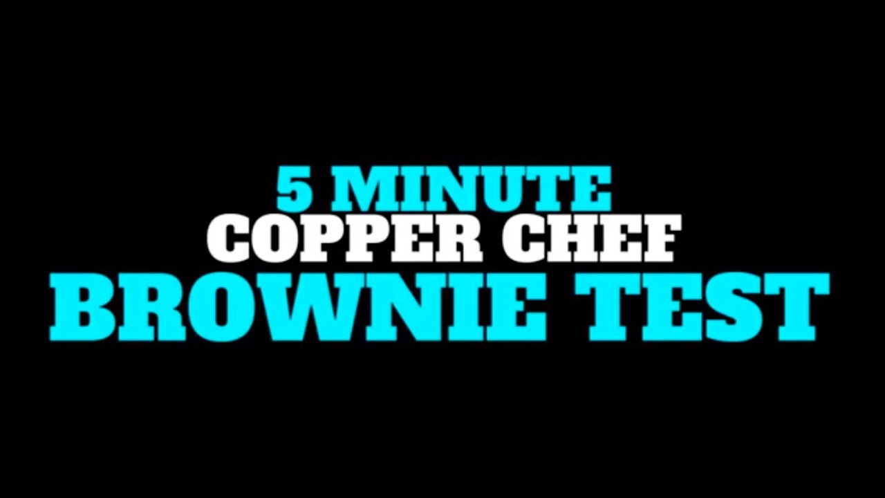 5 Minute Red Copper Chef Brownie Test | As Seen On TV - YouTube