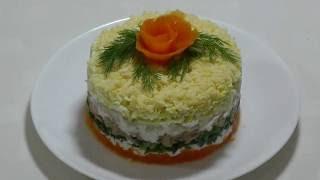Мимоза - не обычный рецепт. Рецепты салатов.Mimosa salad