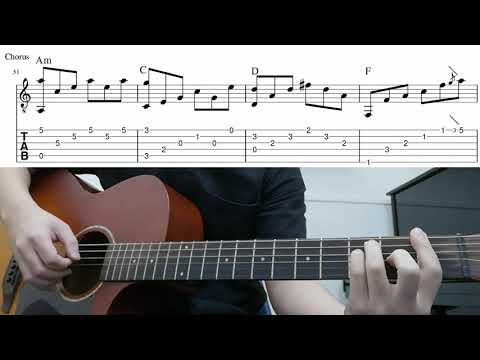 House Of The Rising Sun (The Animals) - Easy Fingerstyle Guitar Playthrough Tutorial With Tab