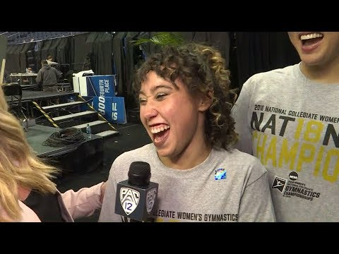 Katelyn Ohashi after UCLA's NCAA women's gymnastics title: 'I asked, can we go on Ellen now?'