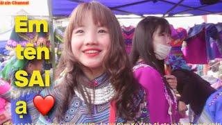 Bắt Gặp em Gái Tên Sai rất rất xinh đẹp tại chợ Phiên|Xinh ngang ngửa em Hoa và em Hân