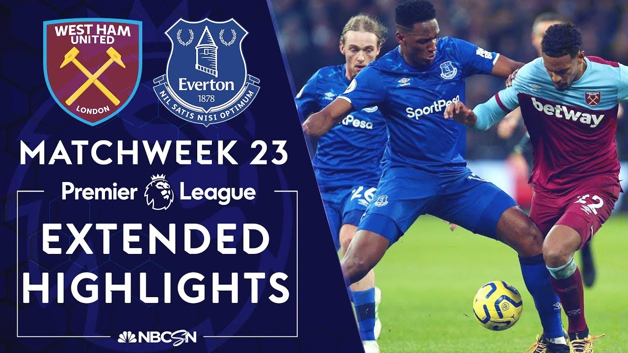 West Ham v. Everton | PREMIER LEAGUE HIGHLIGHTS | 1/18/2020 | NBC Sports