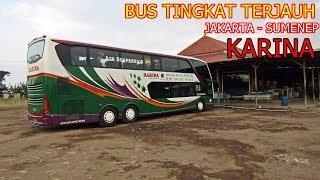 Bus Double Deck Terjauh. Naik Bus Nabrak Pohon. Trip Bus Tingkat Karina Jakarta   Sumenep