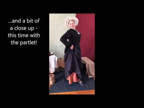 Dressing up a Tudor woman, middle class