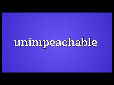 Header of unimpeachable