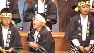 礼!淡路島の伝統芸能だんじり唄です。全員身内でチームをつくり、コン...
