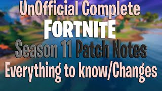 Everything to Know Fortnite Season 11 Update - UnOfficial Patch Notes - Boats Guns Swim All Changes