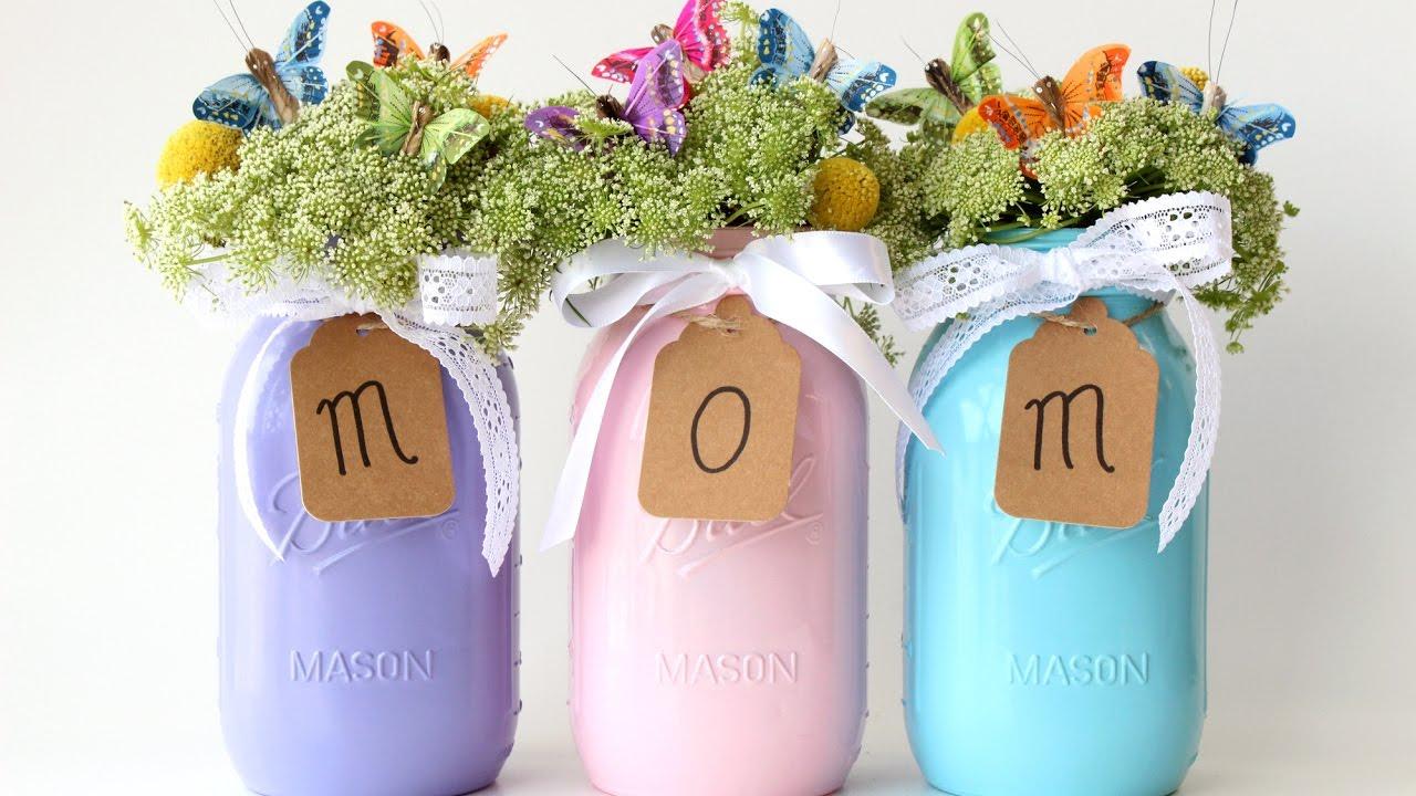 Mother S Day Mason Jar Vases Youtube