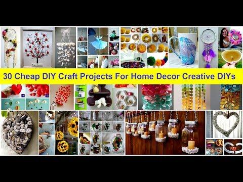 30 Cheap DIY Craft Projects For Home Decor - Creative DIYs
