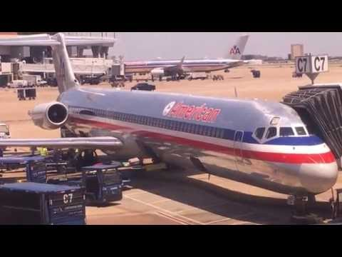 American Airlines MD80 First Class Dallas Fort/Worth to Chicago (Full Flight)