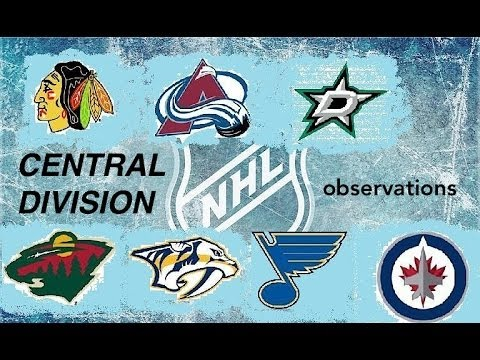 Central Division Observations - Fall 2013 (NHL)