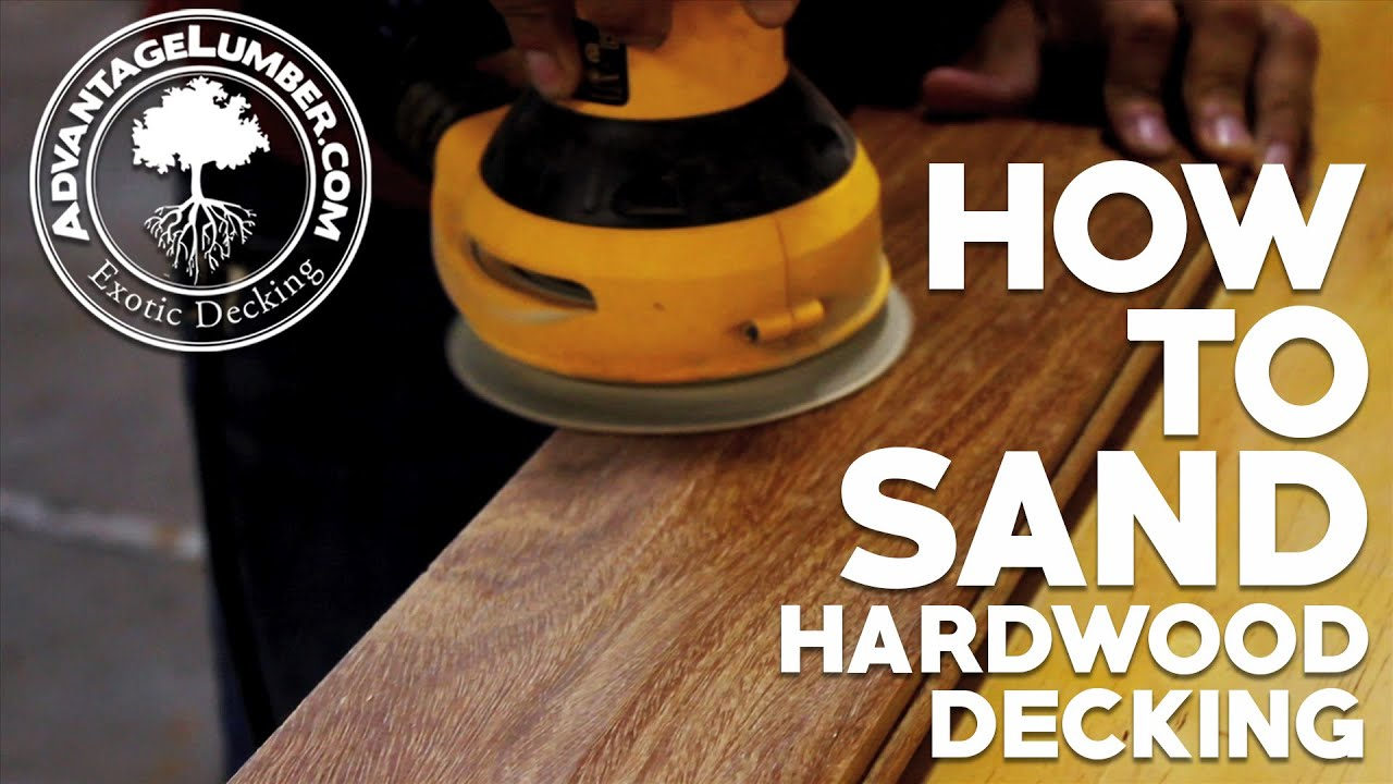 How To Sand Hardwood Decking - YouTube