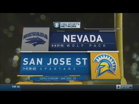 October 15, 2016 - Nevada Wolf Pack vs. San Jose State Spartans Full Football Game