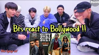 BTS reaction to Bolywood song 🔥Suit suit 💥Bangtan bomb @190818
